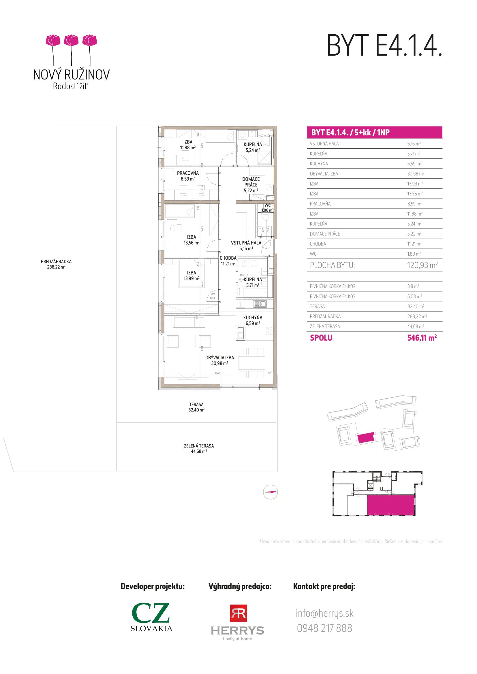 Nový Ružinov E3-E4 (Pravé Krídlo) - Detail bytu E4.1.4