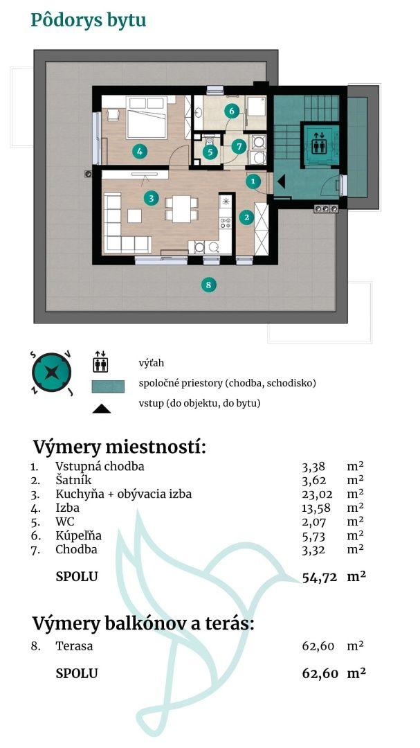 Viladomy Slávičie - Detail bytu 14