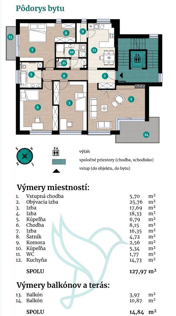 Viladomy Slávičie - Detail bytu 32