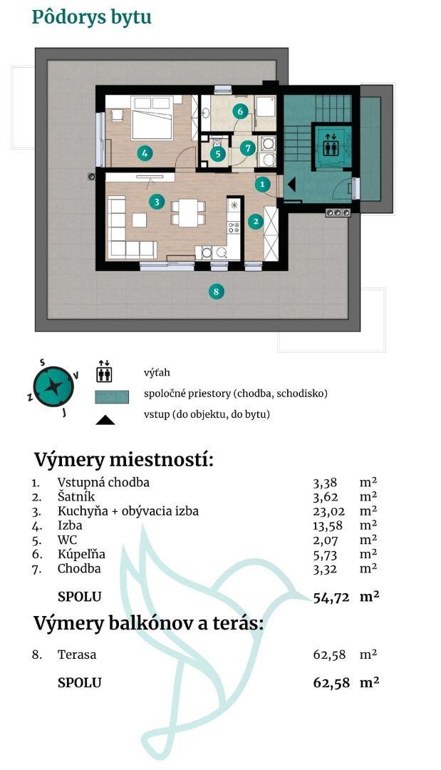 Viladomy Slávičie - Detail bytu 44