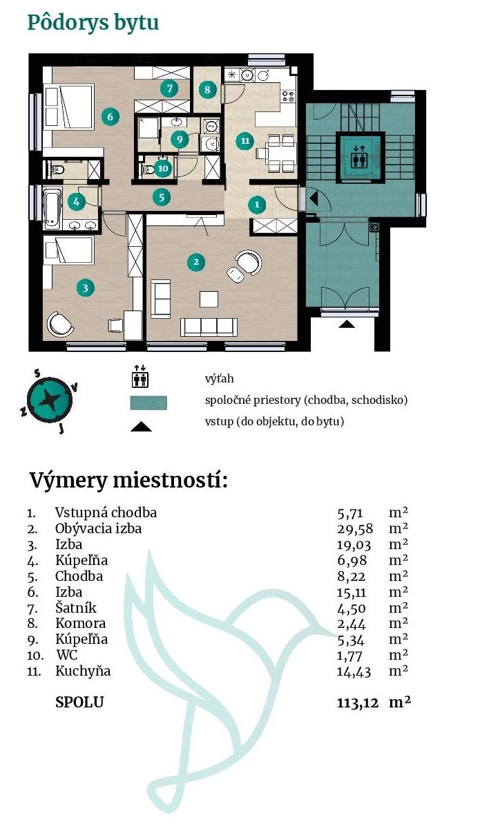 Viladomy Slávičie - Detail bytu 41