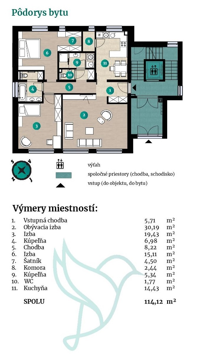 Viladomy Slávičie - Detail bytu 21