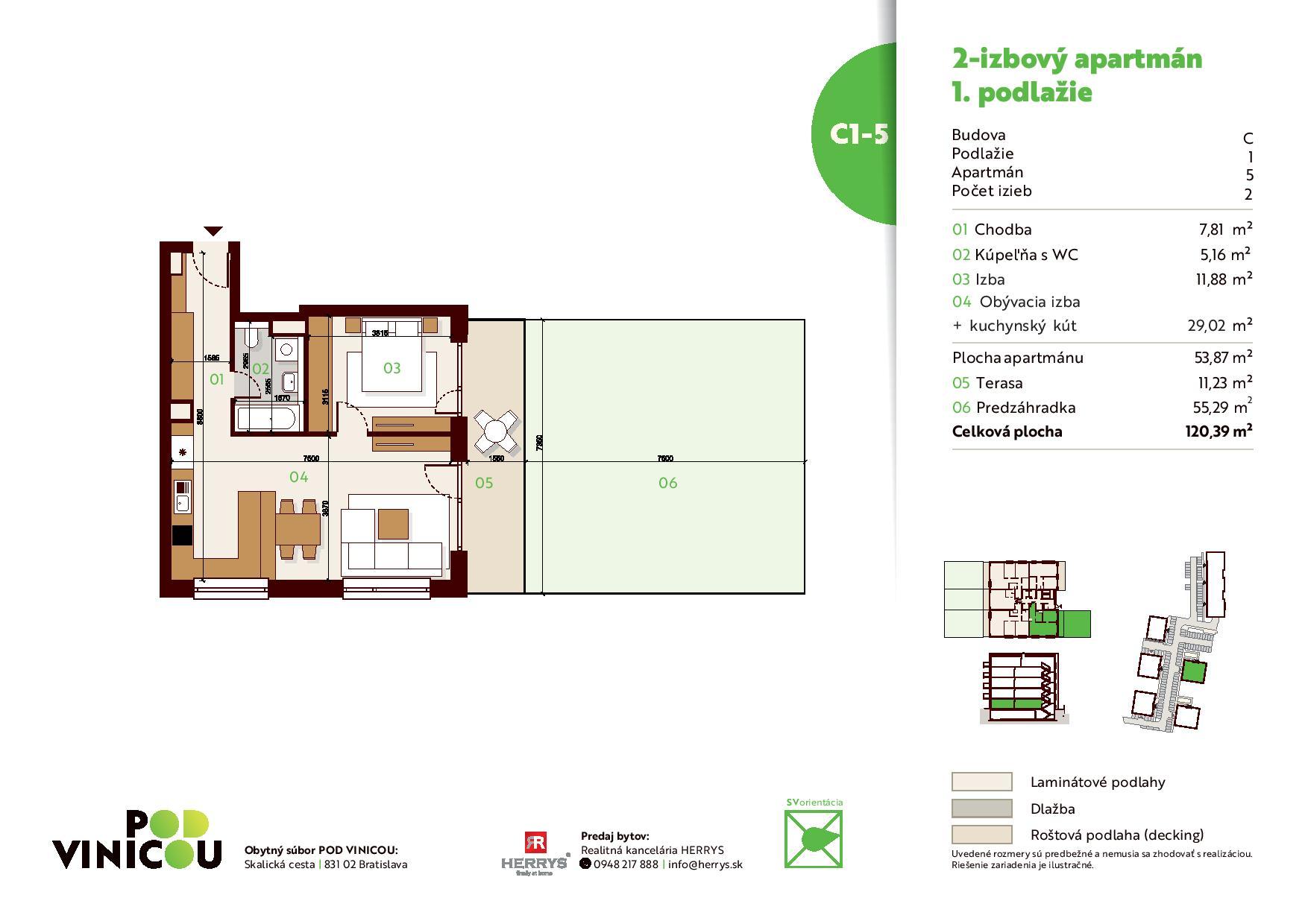 Pod Vinicou - Detail bytu C.1.5 apartman