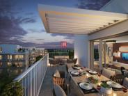 HERRYS - Na predaj 3 izbový apartmán s terasou a zelenou terasou a predzáhradkou v projekte Nový Ružinov